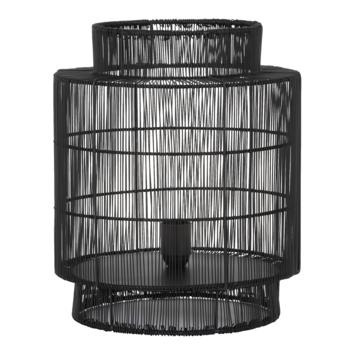 Tafellamp Gruaro Ø31x36 mat zwart