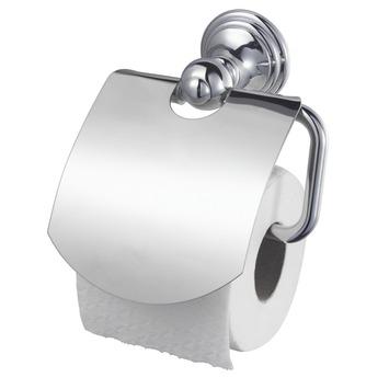 Haceka Allure toiletrolhouder met klep chroom
