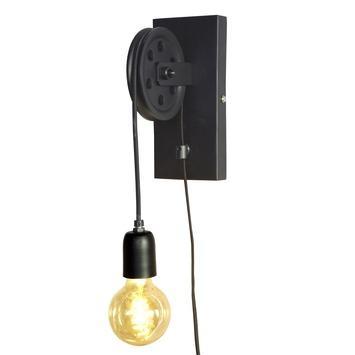 Wandlamp Katrol voor zelfmaak lamp (exclusief lamp)