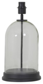 Lampvoet Elize Ø23x41 helder glas zwart