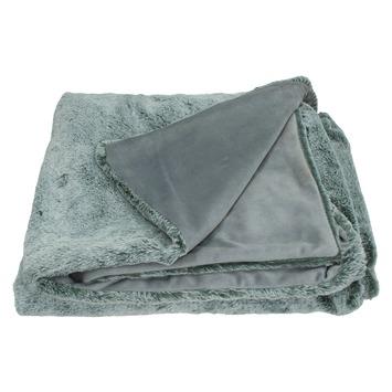 Plaid Gale polyester grijs 130x170 cm