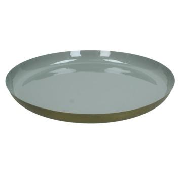 Bord Kenz metaal grijs 4x41x41 cm