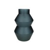 Vaas Gwen glas zwart 23x15.5x15.5 cm