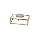 Box Agaat metaal goud 5x15x9.5 cm