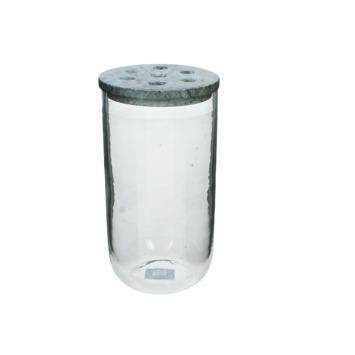 Vaas Sher glas/marmer helder 21x10.5x10.5 cm