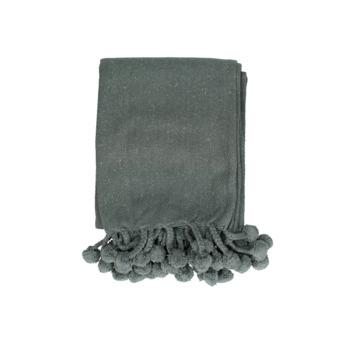 Plaid Alde katoen grijs 130x170 cm