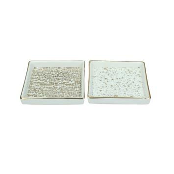 Onderzetter Denley keramiek goud 2,2x11.5x11.5 cm