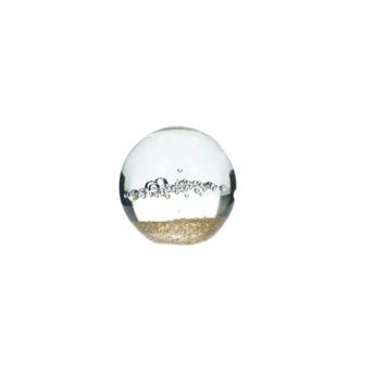 Ornament Harlan glas goud 9x9x9 cm