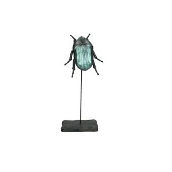 Ornament Kever polyresin zwart 21.5x9.1x6.7 cm