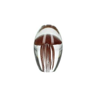 Ornament Harlan glas terra 11x7x7x11 cm
