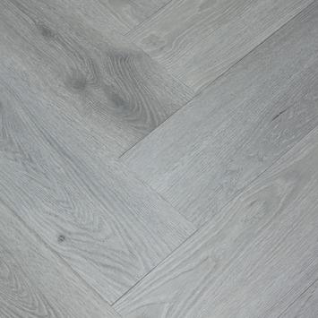 Le Noir et Blanc Click PVC Visgraat Grijs Eiken 4V-groef6 mm 1,35 m2