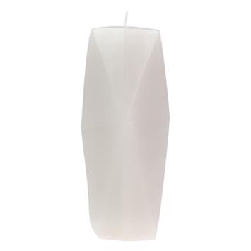Kaars Gemstone wit ø7x15 cm