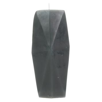 Kaars Gemstone poederroze ø7x15 cm