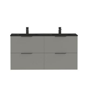 Tiger badkamermeubel Studio 120cm matgrijs/mat zwart met profielgrepen