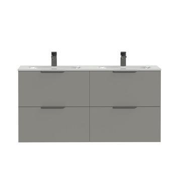 Tiger badkamermeubel Studio 120cm matgrijs/wit met profielgrepen