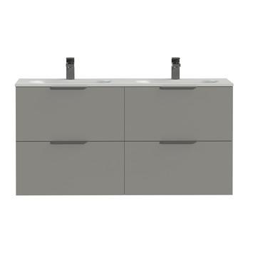 Tiger badkamermeubel Studio 120cm matgrijs/mat wit met profielgrepen