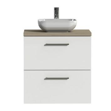Tiger badkamermeubel Studio 60cm hoogglans wit/witte waskom met vierkante greep