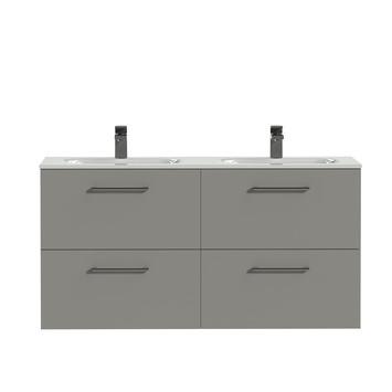 Tiger badkamermeubel Studio 120cm matgrijs/wit met ronde greep
