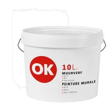 OK muurverf wit 10 liter