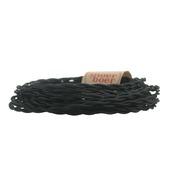 Snoerboer snoer gedraaid zwart 2 meter