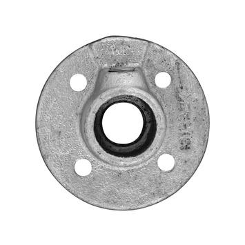 Novidade steigerbuis ronde voetplaat 21 mm verzinkt