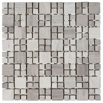 Mozaiek Beige/Taupe/Grijs 27 cm x 27 cm
