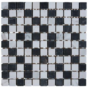 Mozaiek Wit/Zwart/Grijs 30X30CM 4 stuks