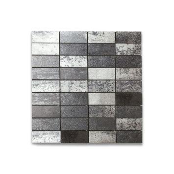 Mozaïektegel Vulcano zwart 30x30 cm 4 stuks