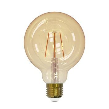 Handson LED-filament 95mm globe E27 4W(=30W) 320 lumen gold dimbaar
