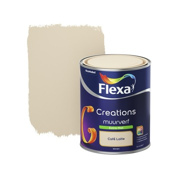 Flexa Creations muurverf extra mat cafe latte 1 l