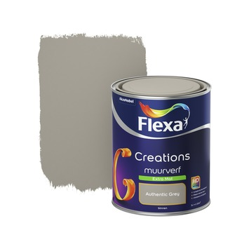 Flexa Creations muurverf extra mat authentic grey 1 l