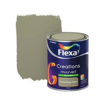Flexa Creations muurverf extra mat camouflage green 1 l