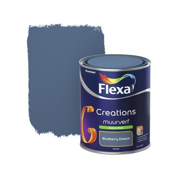 Flexa Creations muurverf extra mat blueberry dream 1 l