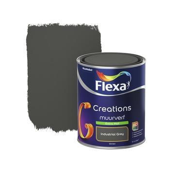 Flexa Industrial Grey.Flexa Creations Muurverf Extra Mat Industrial Grey 1 L