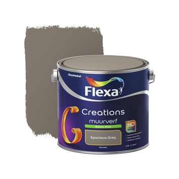Flexa Creations muurverf extra mat spacious grey 2,5 l