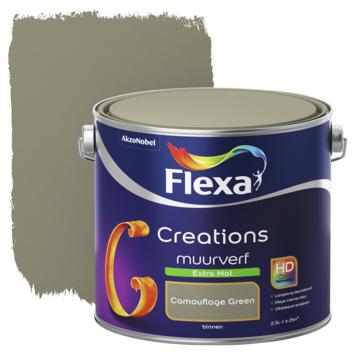 Flexa Creations muurverf extra mat camouflage green 2,5 l