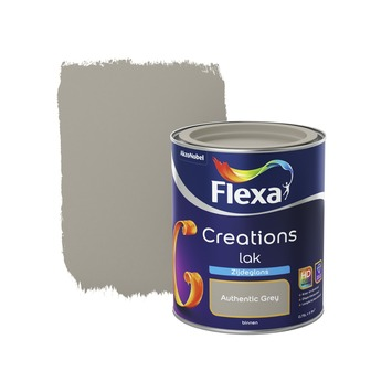 Flexa Creations lak zijdeglans authentic grey 750 ml