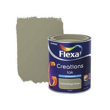 Flexa Creations lak zijdeglans camouflage green 750 ml