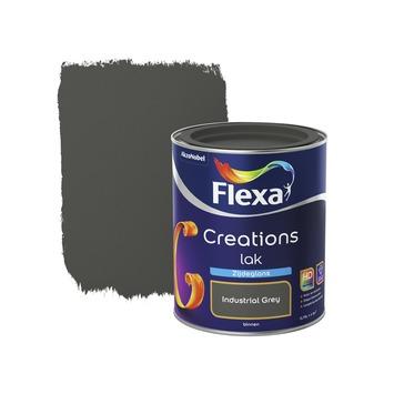 Flexa Industrial Grey.Flexa Creations Lak Zijdeglans Industrial Grey 750 Ml