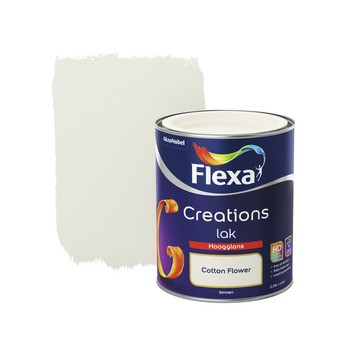 Flexa Creations lak hoogglans cotton flower 750 ml