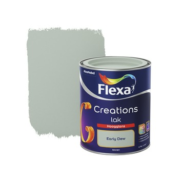 Flexa Creations lak hoogglans early dew 750 ml