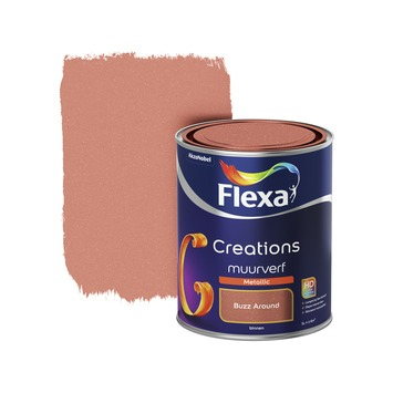 Flexa Creations metallic muurverf mat buzz around 1 l