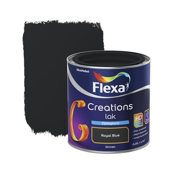 Flexa Creations binnenlak royal blue zijdeglans 250 ml