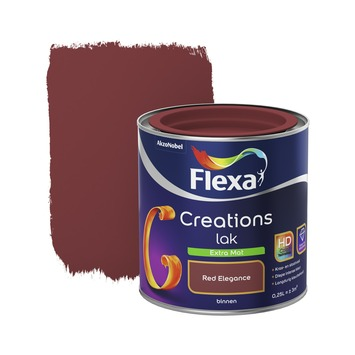 Flexa Creations binnenlak red elegance extra mat 250 ml
