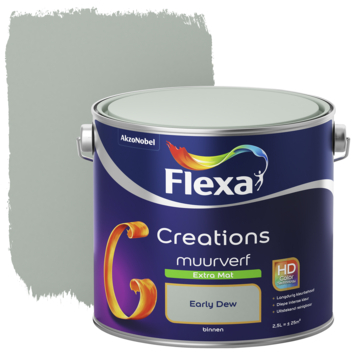 Flexa Creations muurverf early dew extra mat 2,5 liter