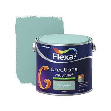 Flexa Creations muurverf vintage blue extra mat 2,5 liter
