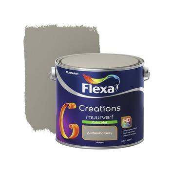 Flexa Creations muurverf authentic grey extra mat 2,5 liter