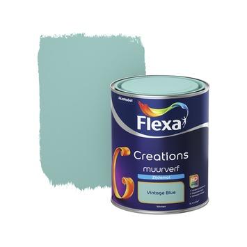 Flexa Creations muurverf vintage blue zijdemat 1 liter