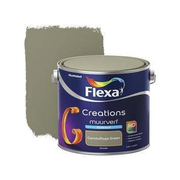Flexa Creations muurverf camouflace green zijdemat 2,5 liter