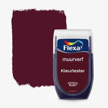 Flexa Creations muurverf Kleurtester Joyful Ruby mat 30ml